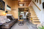 Interieur van een tiny house op de Veluwe