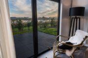 Uitzicht over de polders vanuit het vakantiehuis