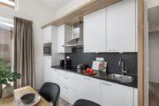 Keuken in een water villa
