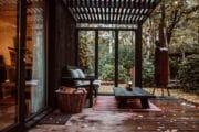 Vakantiehuisje in België met overdekte veranda